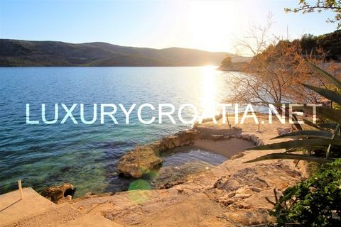 About this Property: (PR-B-1) House with a private beach for sale in Marina, Trogir area House with a private beach for sale- beautiful house with sea view located about 6 km from town Trogir. The house consists of two parts, the main house (95 m2) a...