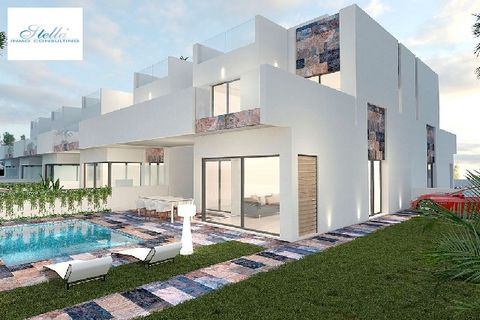 Description These elegant and modern single family houses consist of a constructed area of approx. 182 m² (including terraces) with 3 bedrooms, 3 bathrooms (1 en-suite), 1 living / dining room with kitchen area, 1 roofed-in terrace and 1 roof terrace...