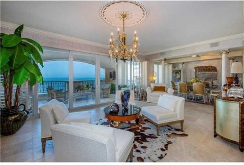This beautiful 2BR/2+1BA Oceanside unit features 2,420 SF of interior living area w/full length balcony providing stunning views over the beach, ocean & Government Cut. Exquisite Saturnia floors throughout, elegant foyer, open living room layout, wet...