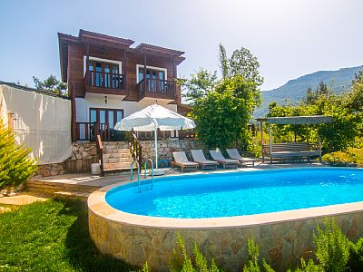 Villa Defne is the brand new villa which has a very beautiful soul. And this stunning villa is located in the great valley of Islamlar Village on the same land. Villa's private pool's size is 8,20x4,20.