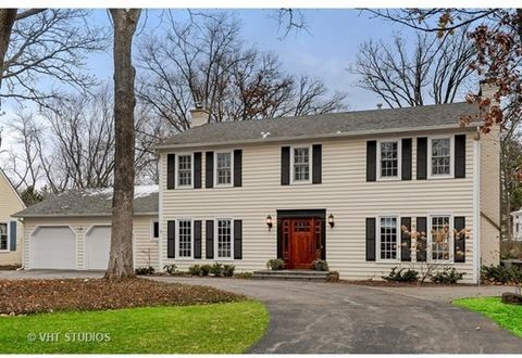 This updated and remodeled East Lake Bluff 3500 sq ft Colonial charmer with hardwood floors throughout is located on oversized .49 acre wooded lot with paver patio, shed, fenced back yard and new gates on the circular drive. In 2015 all windows were ...