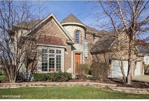 Gorgeous custom home on a PREMIUM cul-de-sac lot backing to open space! Over 4700 sq foot home plus finished basement! Soaring entry with formal center vestibule. 10 ft ceilings on 1st floor! Dual staircases! Huge family room with coffered ceiling an...
