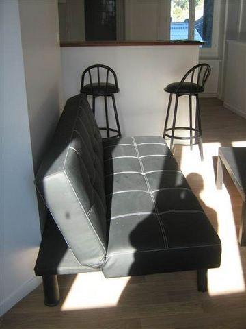 Appartement F1 comprenant une cuisine ouverte sur séjour, SDB, WC. Logement meublé. Frais d'agence locataire 347 euros.