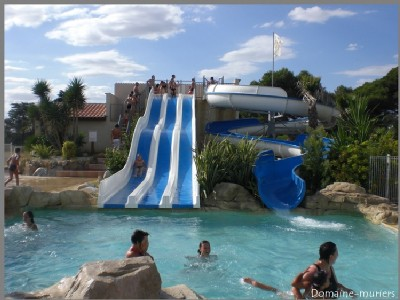 bungalow rental 2-7 pers. Pool South France The holiday complex