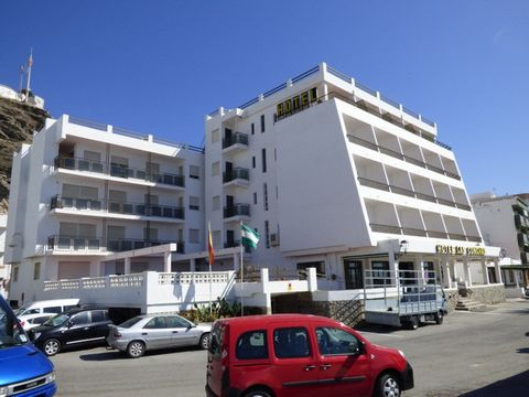 La Rábita, Costa Tropical. This 35 room hotel, has 29 rooms, 3 large, 3 bedroom apartments apartments and 3 suites. It is fully equipped with kitchen, dining room, lobby, reception, laundry and lift. The hot water is heated by solar panels. Aircondit...