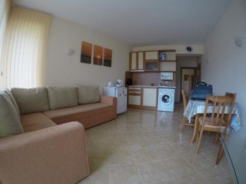 The apartment is situated on the 4th floor and has a total living area 59.53 sq.m. It comprises of: - Corridor; - Kitchen + lounge; - 1 bedroom; - Shower-room/WC; - Terrace to the lounge The property is for sale fully furnished and ready to move in. ...