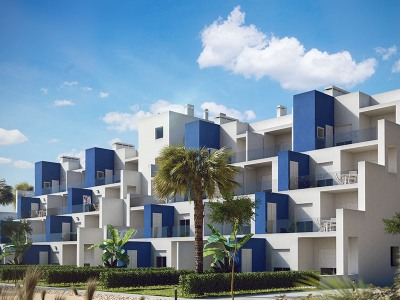 From our La Zenia sales office we are proud to offer these beautiful luxury 3 bedroom front line golf apartments located in Terrazas de la Torre, close to Balsicas, San Javier and the Mar Menor.. Terrazas de la Torre is a fantastic resort where all p...