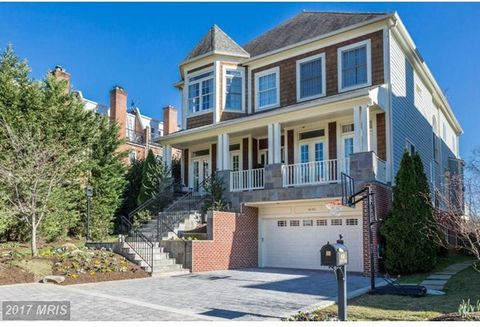NEW LISTING! Welcome to this stunning home in the Palisades, boasting breathtaking views of the Potomac River. Approx 6700sf (floor plan) and an elevator that serves all levels. Eat-in kitchen open to family room & deck overlooking the river.Decks w/...