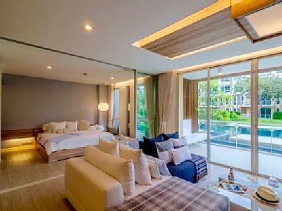 1 bed ,1 bath,1 living room and kitchen 65sqm. *Pool Access.Wanvayla condo is new Huahin **Beachfront in Khao-Tao beach area (Fully furnish 1 bedroom Pool access 1st Floor. It's service apartment with modern interior design. Rates: nightly-weekend - ...