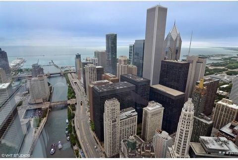 85th floor w/11-foot floor-to-ceiling windows featuring breathtaking East, North & South facing views of Lake Michigan, Chicago River, Millennium Park, & so much more. No expense spared in upgrading this 2,000 sq ft split 2-bedroom unit at the Trump ...