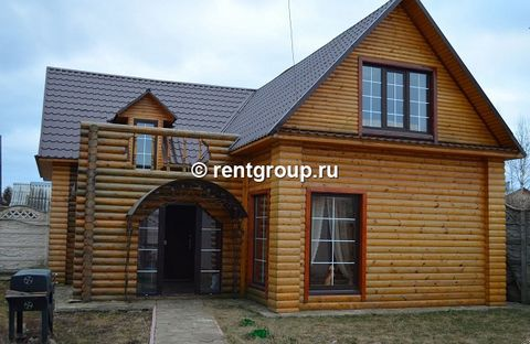 Lot number 19733 We offer for rent 2- storey house of 180 m (log) on a plot of 15 acres in a private courtyard, on the outskirts of the city of Tver. On the ground floor is a kitchen with all necessary appliances. Dining with a large table, TV, DVD, ...