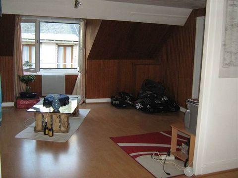 Charmant appartement F1 avec du cachet et une belle vue sur jardin. Immeuble très calme ! Frais d'agence locataire : 323 euros.