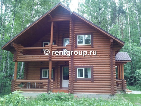 Lot number 19717 We offer for rent 2- storey house of 300 m (log) on a plot of 30 acres, detached in the woods near the lake. On the ground floor is a kitchen with all necessary appliances. Dining with a large table and satellite TV. WC, with bathroo...